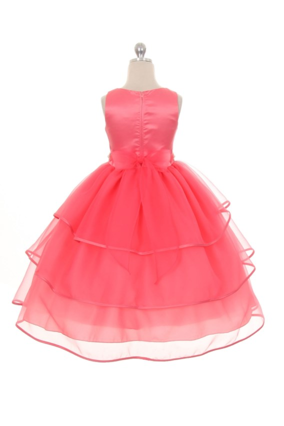 coral holiday dresses for girls