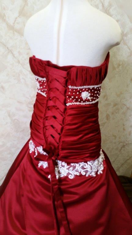 red miniature wedding dresses