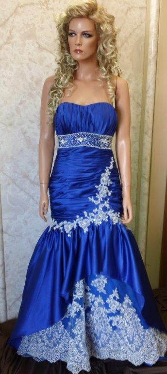 royal blue mermaid prom dress