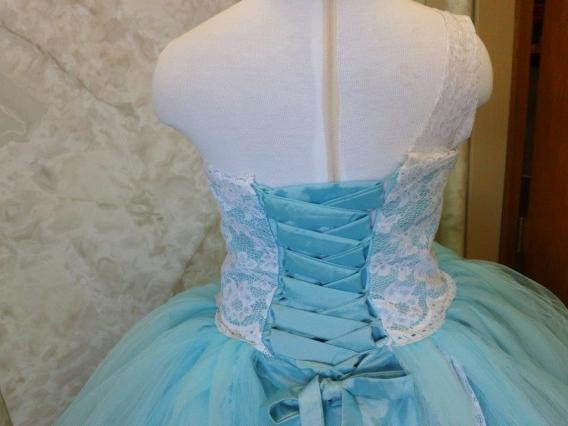 blue tutu dress for flower girl