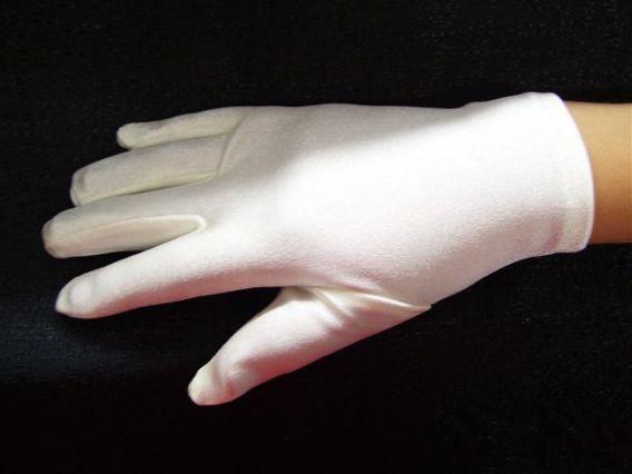 girls white dress gloves