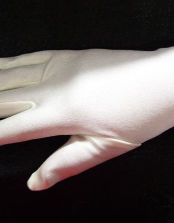 girls white dress gloves