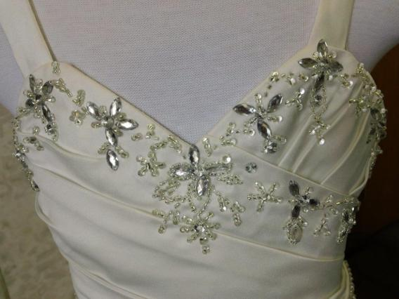 Flower girl dress with crystal beading
