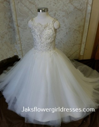 Match my brides dress for flower girl