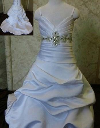 Beaded sash flower girl dress