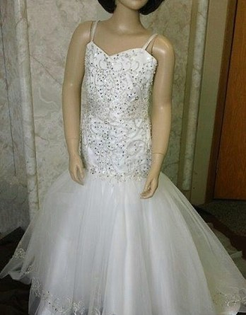 Casablanca style matching flower girl dress
