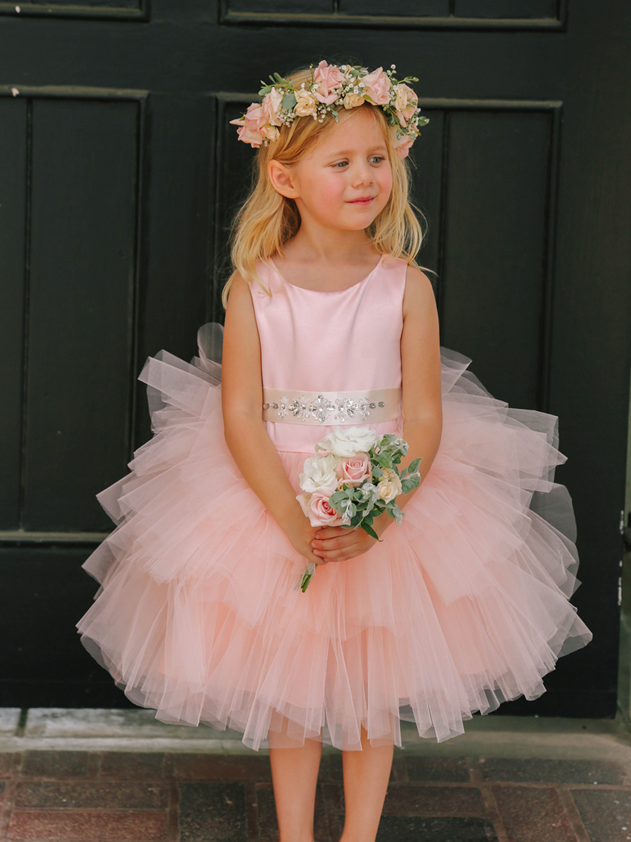 f0c5f97871e0 Flower girl tutu dress. Girls Cupcake Tutu Dress, ruffled tulle flower girl  ...