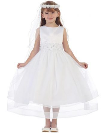 cheap white flower girl dresses
