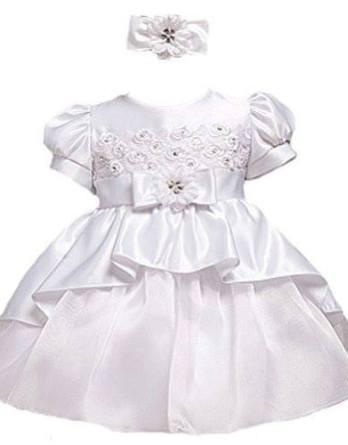Baby Girls Christening dress with headband