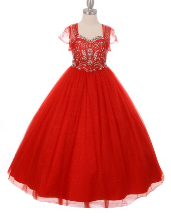 rhinestone pageant dresses