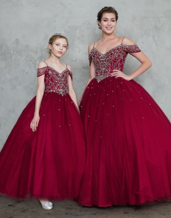 women and girls quinceanera dresses