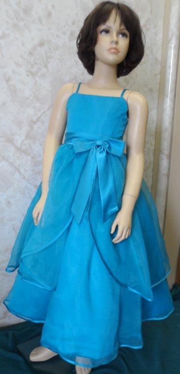 turquoise spaghetti strap dress