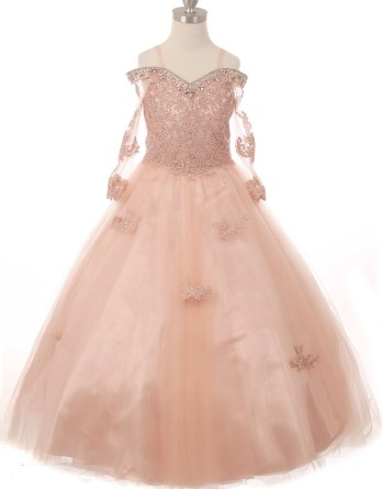 lace beaded pageant dress