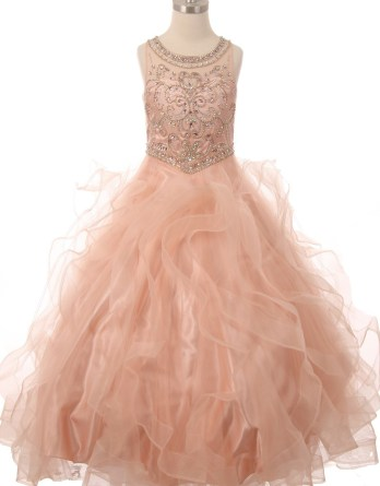 girls pageant gown
