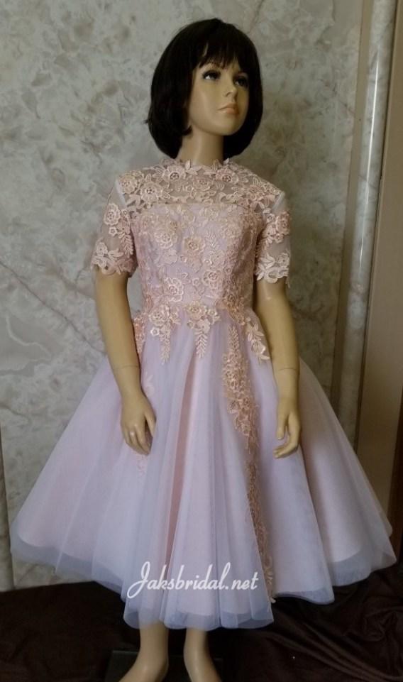 Tea length flower girl dress