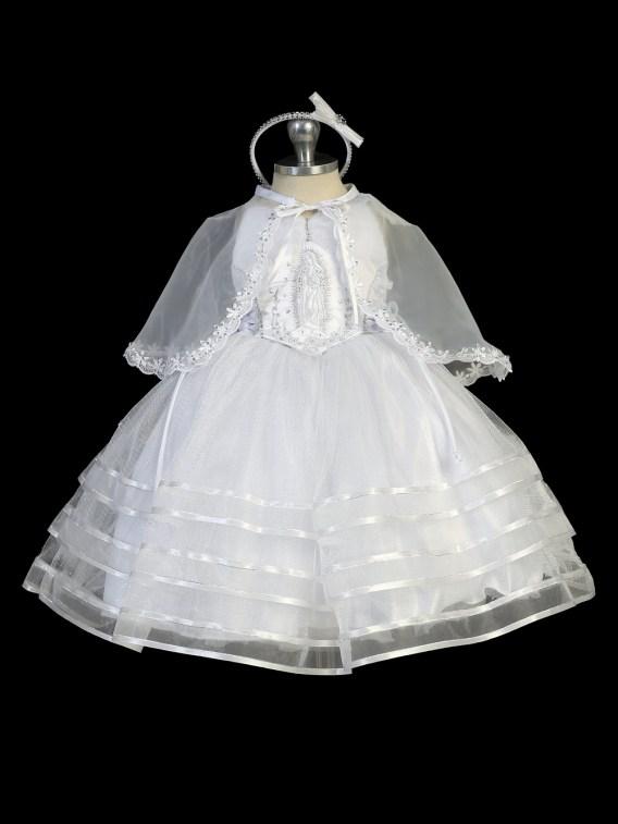 Virgin mary bodice baptism dress