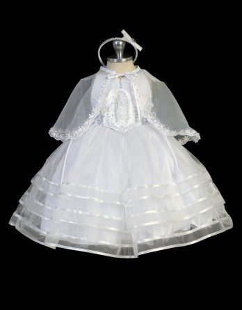 Virgin mary bodice baptism dress