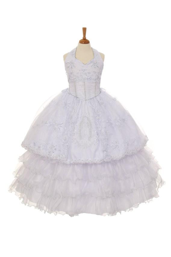 3-piece halter communion dress