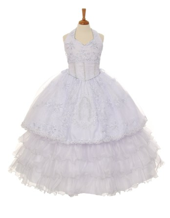 3-piece halter communion dress