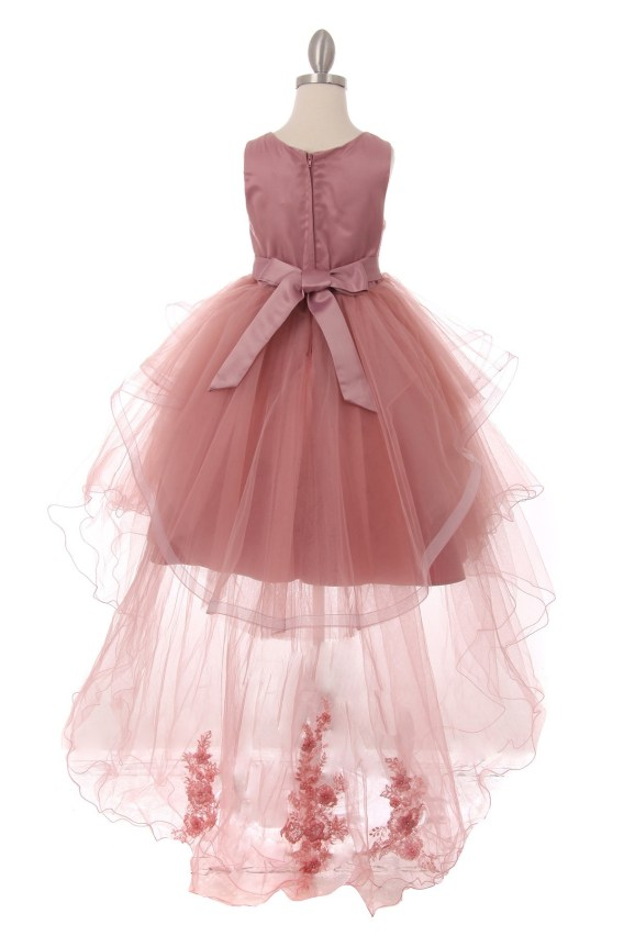 cheap mauve flower girl dress
