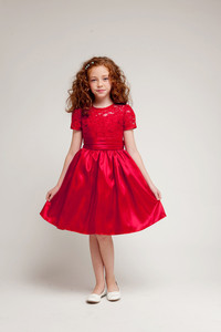 Short sleeve lace dress sale. Little girls short red lace dress on sale for $40. Flower girl, holiday, party, church.