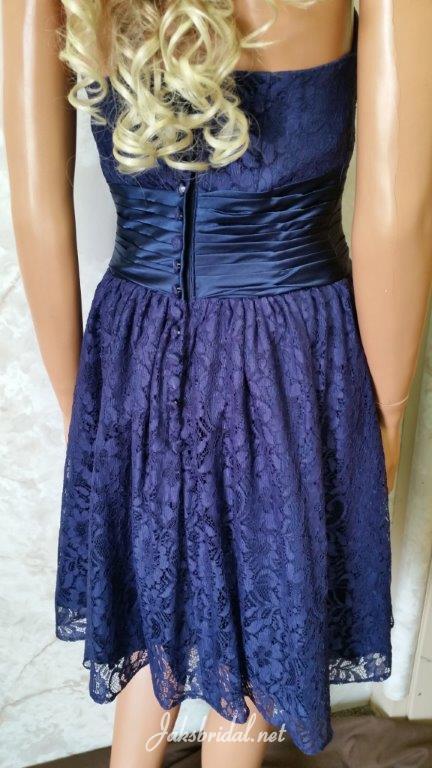 navy blue lace bridesmaid dresses