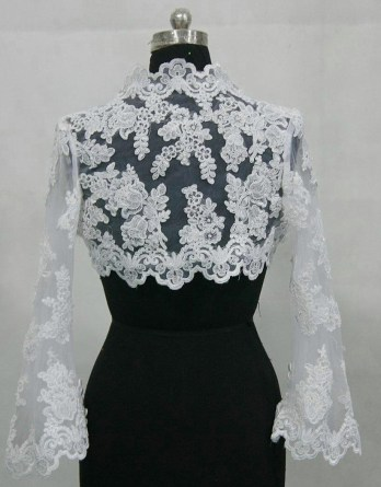 Short lace bolero jacket