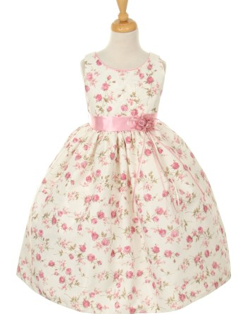 Floral girls' dresses