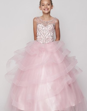 Formal pageant dresses for girls and juniors.