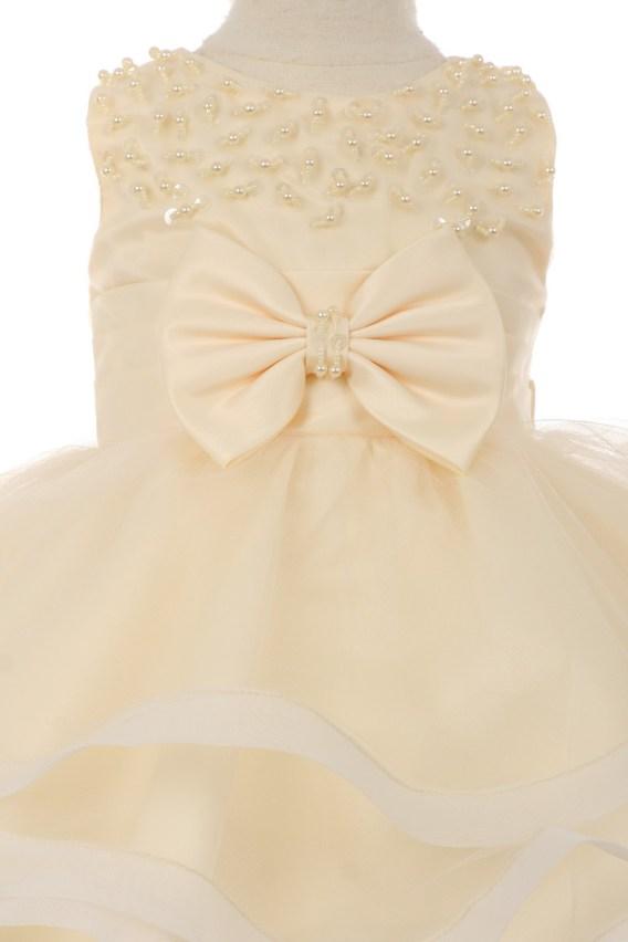 champagne baby dress