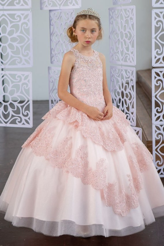 little blush pageant dress