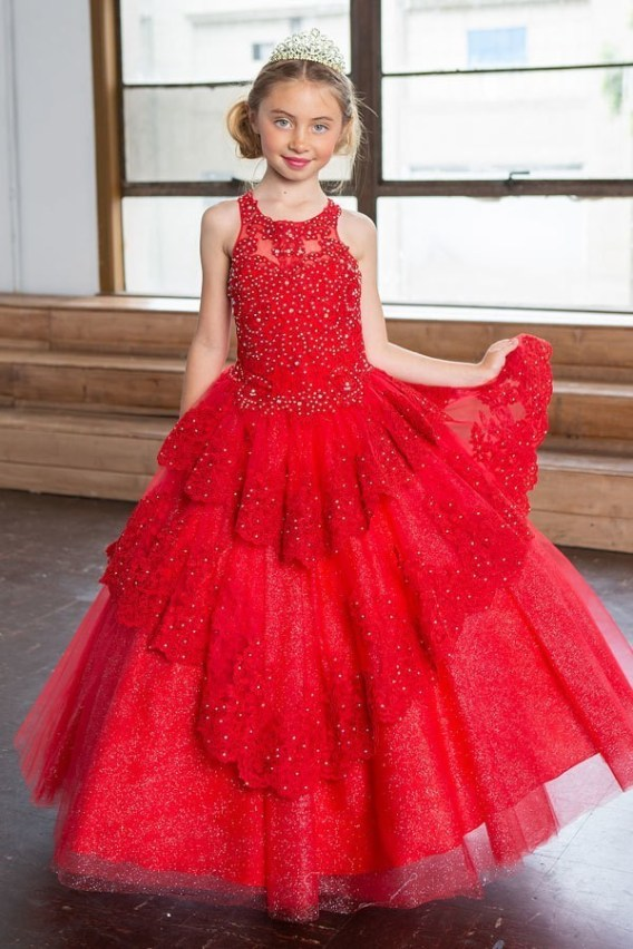 little red pageant dress