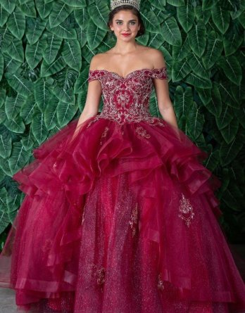 burgundy dresses for quinceañera