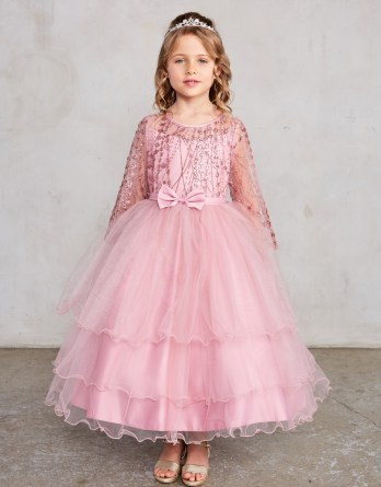 rose gold formal girls dress