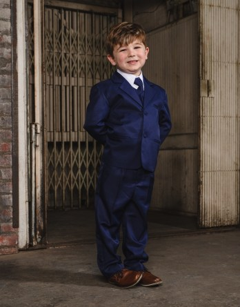 boys indigo suit