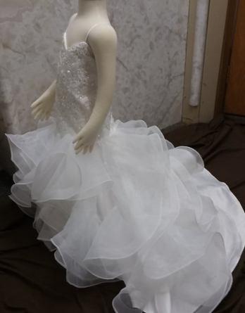 mermaid flower girl dress