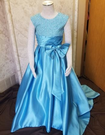 pearl beaded pageant dress