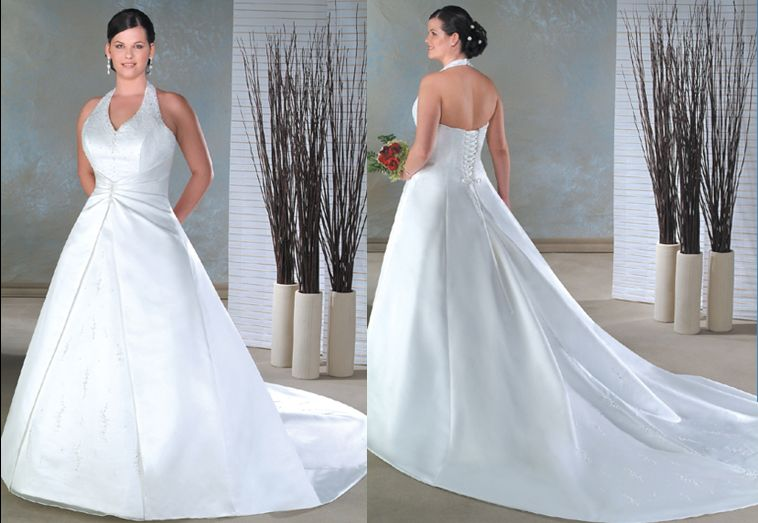 Halter Wedding Dresses, Plus Size