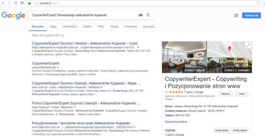 Jak zarejestrować wizytówkę w Google Maps - agencja reklamowa CopywriterExpert w Google maps