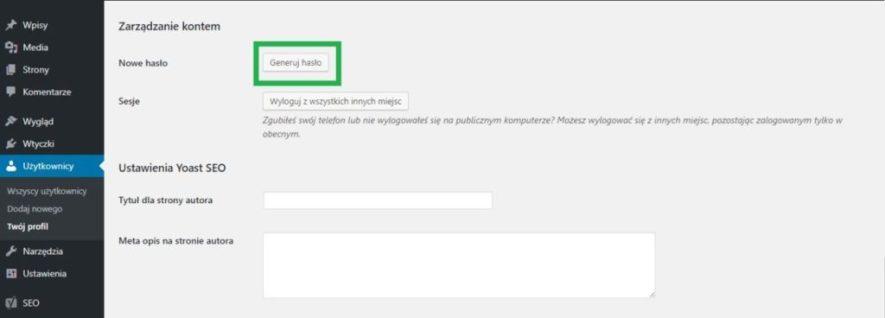 generowanie bezpiecznego hasła w wordpressie czyli jak zabezpieczyć stronę www