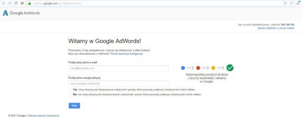 Założenie konta Adwords część 2