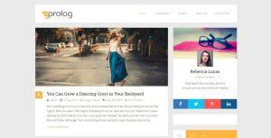 Szablon motyw wordpress na blog Prolog