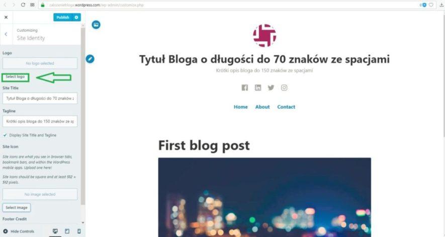 jak założyć bloga wordpress.com - wybór loga część 2