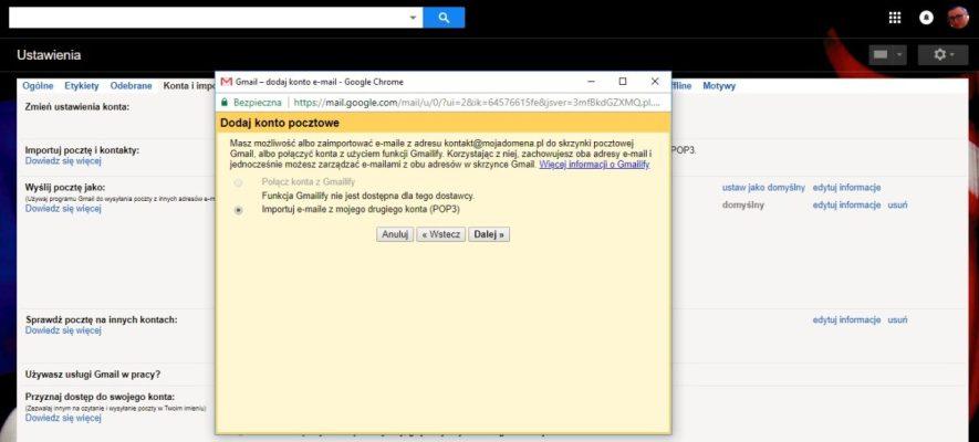 przekierowanie maila czyli przekierowanie poczty na gmail część 3