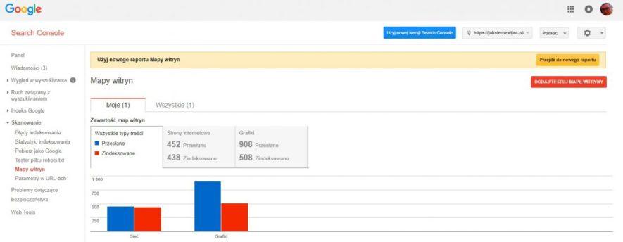 Google search console - ustawienie mapy witryny xml