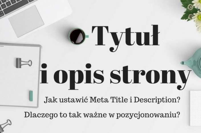 Jak ustawić tytuł i opis strony www?