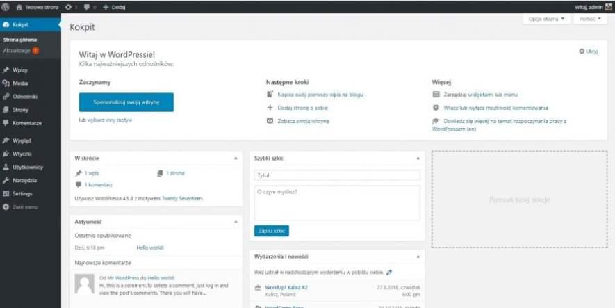 instalacja wordpressa w hostingu atthost 7