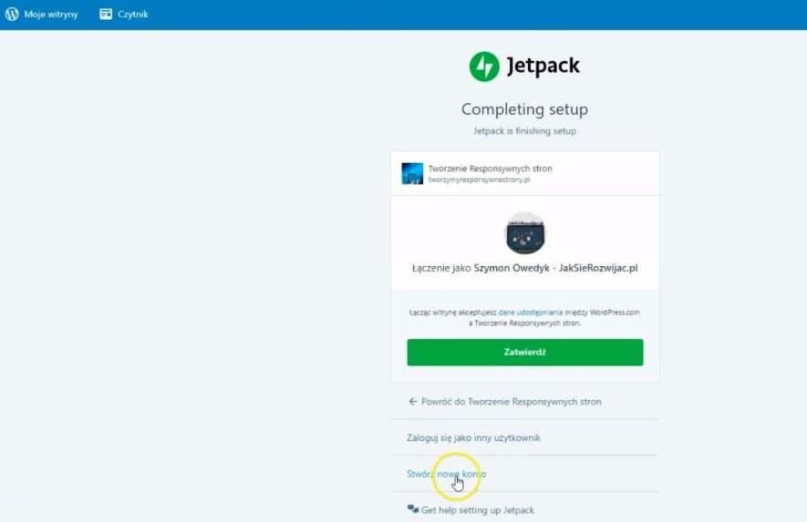 zainstaluj wtyczkę JetPack WordPress - połączenie z wordpress