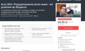 kurs seo i pozycjonowanie stron www od podstaw do eksperta