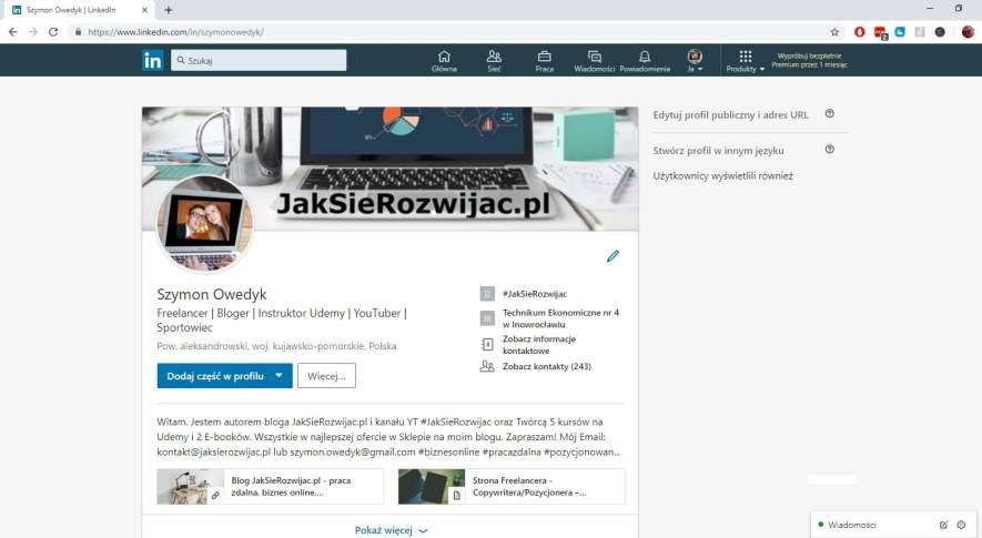 LinkedIn Szymon Owedyk JakSieRozwijac